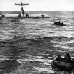 Allatulistatud Rootsi Catalina, 16. juuni 1952. Meeskond pääses.