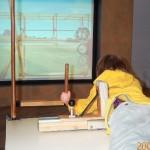 EAA Wright Flyeri simulaator Kitty Hawkis, USA-s. Õige väljaehitatud osa, õige ja kohakuti lennuki interjöör ekraanil. Ning töötab.