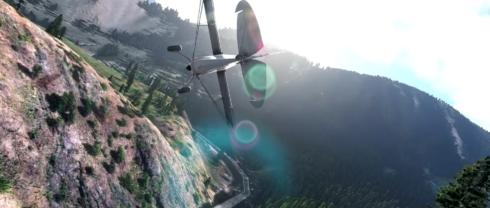 Kandiline oja Microsoft Flight Simulator'i reklaamis